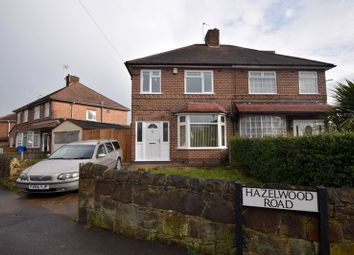 Thumbnail 3 bedroom semi-detached house for sale in Hazelwood Road, Chaddesden, Derby, Derbyshire