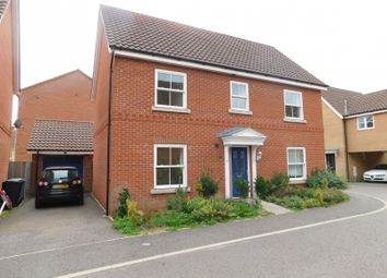 Thumbnail 4 bed detached house to rent in Sunderland Close, Old Catton, Norwich