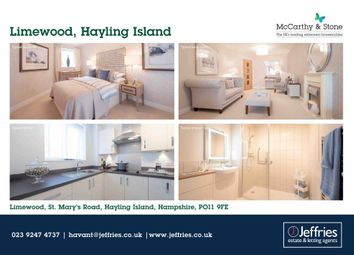 Thumbnail 1 bed flat for sale in St. Marys Road, Hayling Island