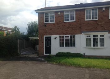 Thumbnail 2 bed semi-detached house to rent in Rosemoor Drive, Brierley Hill