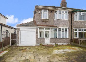 Thumbnail 3 bed semi-detached house for sale in Kingsmead Drive, Huntscross, Liverpool