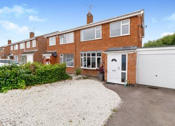 Thumbnail 3 bed semi-detached house for sale in Poulteney Drive, Quorn, Loughborough, Leicestershire
