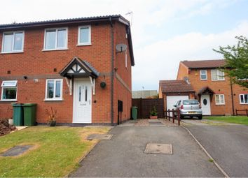 Thumbnail 2 bed semi-detached house for sale in Woodhouse Road, Narborough