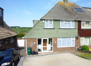 Thumbnail 3 bed semi-detached house to rent in Swanborough Drive, Brighton
