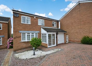 Thumbnail 4 bed detached house for sale in Ledbury Close, Oadby, Leicester