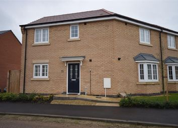 Thumbnail 3 bed semi-detached house for sale in Barrowcliff Way, Blaby, Leicester