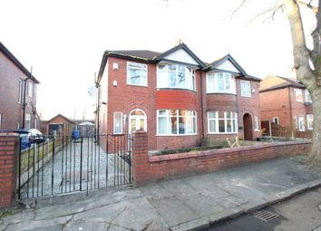 Thumbnail 3 bed semi-detached house to rent in Hapton Avenue, Stretford, Manchester