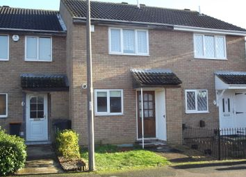 Thumbnail 2 bed terraced house to rent in Gullivers Close, Kempston, Bedford