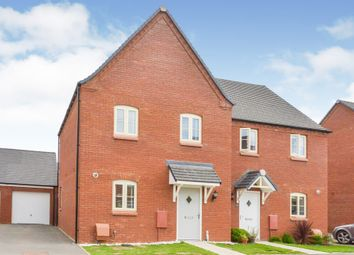 Thumbnail 3 bed semi-detached house for sale in Ratcliffe Close, Old Stratford, Milton Keynes