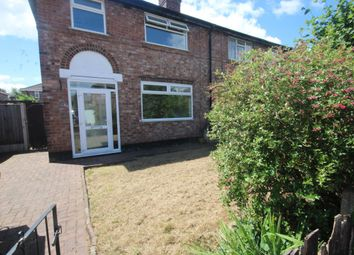 Thumbnail 3 bed semi-detached house to rent in Rixton Avenue, Bewsey, Warrington