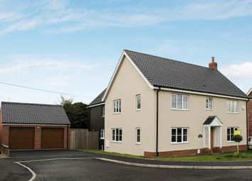Thumbnail 5 bed detached house for sale in Meadow Close, Mill Common, Westhall, Halesworth