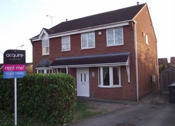 Thumbnail 3 bed semi-detached house to rent in Pulborough Gardens, Littleover, Derby
