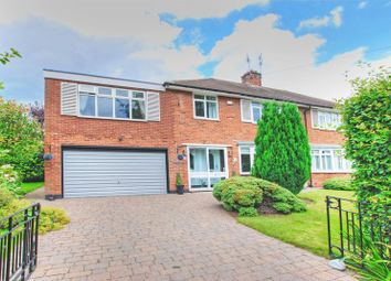 Thumbnail 5 bedroom semi-detached house for sale in Park Drive, Melton Park, Newcastle Upon Tyne