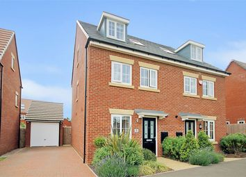 Thumbnail 4 bedroom semi-detached house for sale in Hawthorn Road, Brixworth, Northampton
