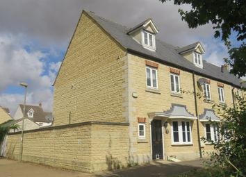 Thumbnail 4 bedroom end terrace house for sale in Brome Way, Carterton