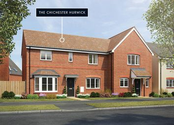 "Thumbnail 3 bed property for sale in ""The Chichester Hurwick"" at Shopwhyke Road, Chichester"