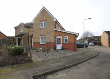 Thumbnail 3 bed semi-detached house for sale in Elizabeth Close, Attleborough