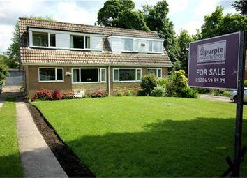 Thumbnail 2 bedroom semi-detached bungalow for sale in Bank Top Grove, Sharples, Bolton, Lancashire