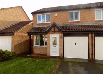 Thumbnail 3 bed semi-detached house for sale in Shirlaw Close, Newcastle Upon Tyne