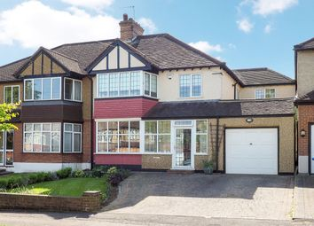 Thumbnail 4 bed semi-detached house for sale in Newbolt Avenue, Cheam, Sutton