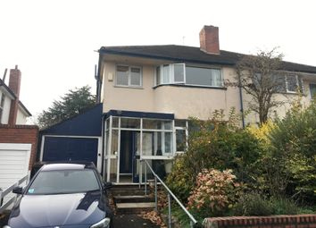 Thumbnail 3 bed semi-detached house to rent in West Avenue, Handsworth Wood, Birmingham