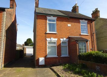 Thumbnail 2 bed semi-detached house for sale in Newton Road, Ipswich