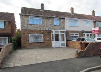 Thumbnail 3 bedroom end terrace house for sale in Crabtree Avenue, Chadwell Heath, Romford