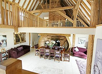 Thumbnail 4 bed detached house for sale in Envilles Barns, Little Laver, Ongar, Essex