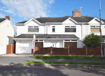 Thumbnail 5 bed semi-detached house for sale in Emery Avenue, Westlands, Newcastle