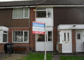 Thumbnail 2 bed terraced house to rent in Hugget Close, Leicester