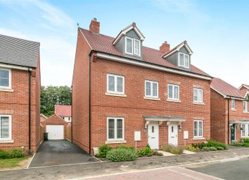 Thumbnail 3 bed town house for sale in Westrop Drive, Sible Hedingham, Halstead