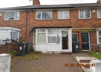 Thumbnail 3 bed terraced house for sale in Hobmoor Road, Yardley