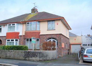 Thumbnail 3 bed semi-detached house for sale in Central Park Avenue, Mutley, Plymouth