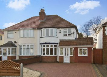 Thumbnail 3 bed semi-detached house for sale in Elm Avenue, Wednesfield, Wolverhampton