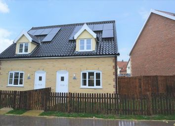 Thumbnail 2 bed semi-detached house for sale in The Crescent, Lopham Road, East Harling, Norwich