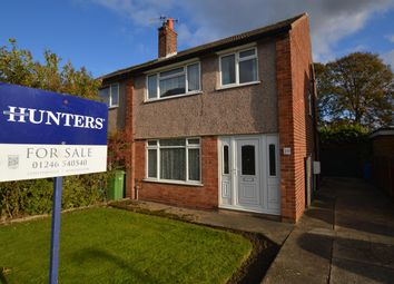 Thumbnail 3 bed semi-detached house for sale in Aspley Close, Brockwell, Chesterfield