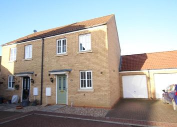Thumbnail 2 bed semi-detached house for sale in Meadow Way, Ely