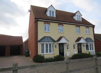 Thumbnail 4 bed town house for sale in Hendry Gardens, Wymondham