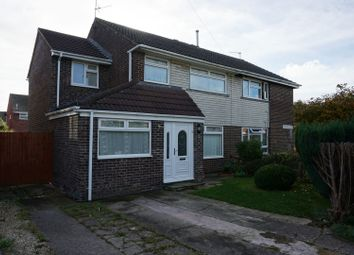 Thumbnail 4 bed semi-detached house for sale in Runcorn Close, Barry