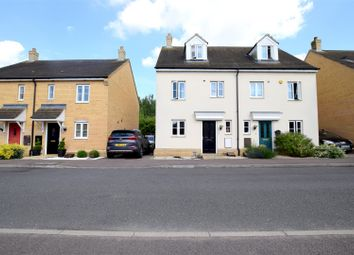 Thumbnail 3 bedroom semi-detached house for sale in Meridian Close, Hardwick, Cambridge