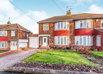 Thumbnail 3 bed semi-detached house for sale in Wedmore Road, Hillheads Estate, Newcastle Upon Tyne