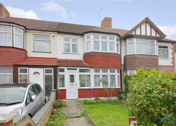 Thumbnail 3 bed terraced house for sale in The Fairway, Palmers Green, London