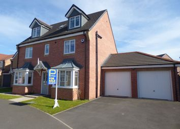 Thumbnail 5 bed detached house for sale in Kirkharle Crescent, Ashington