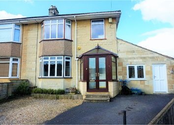 Thumbnail 4 bed semi-detached house for sale in Holcombe Close, Bathampton