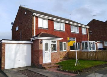 Thumbnail 3 bed semi-detached house for sale in Cowdray Court, Kingston Park, Newcastle Upon Tyne