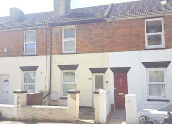 Thumbnail 2 bed terraced house to rent in Upper Luton Road, Chatham