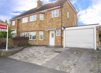 Thumbnail 3 bedroom semi-detached house for sale in Highcroft Avenue, Oadby, Leicester
