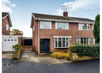 Thumbnail 3 bed semi-detached house for sale in Dairylands Road Church Lawton, Stoke-On-Trent