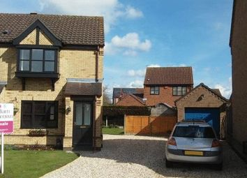 Thumbnail 2 bed semi-detached house for sale in Beaver Close, Skellingthorpe, Lincoln