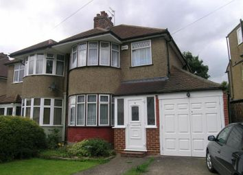 Thumbnail 3 bed flat to rent in Durley Avenue, Pinner, Middlesex